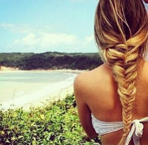 We love fishtail braids! Gives a little oomph to your ordinary braid