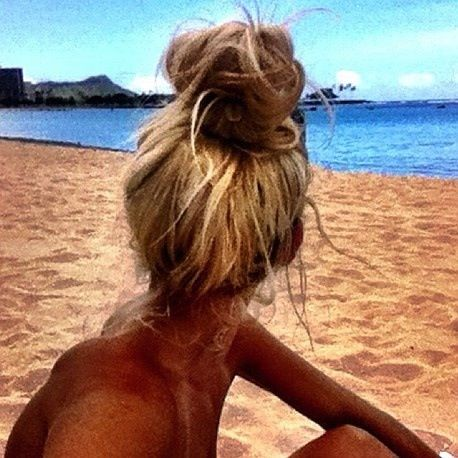 A high messy bun is quick and stylish!