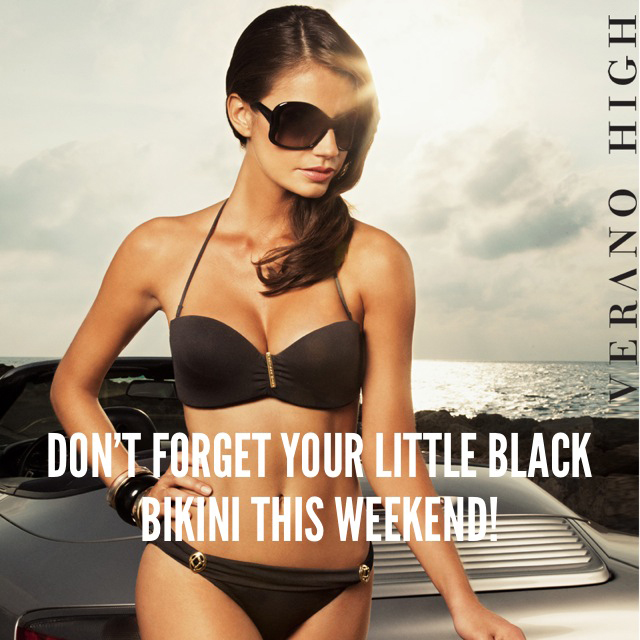 A Little Black Bikini is a MUST HAVE!