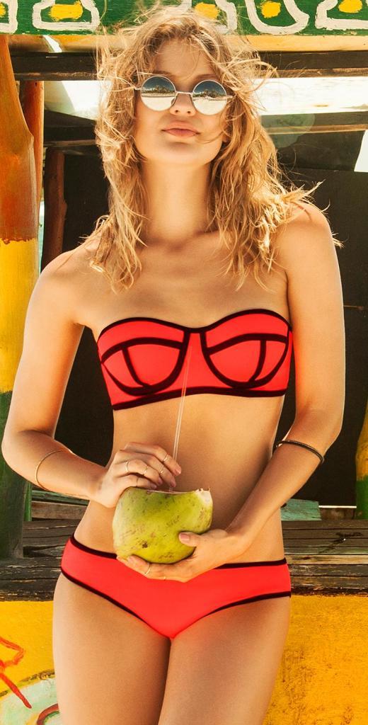 phax mursi orange underwire bandeau bikini
