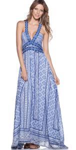 Ondademar Miranda Cruise Long Blue Dress VEL041/QUIS