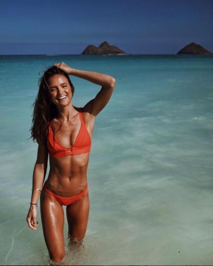 Vitamin A Eco Fire Coral Neutra Bralette Bikini | http://bit.ly/2kgNptS
