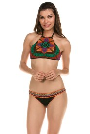 South Beach Swimsuits Isabella Rose Bali Hai Crochet High Neck Black Bikini